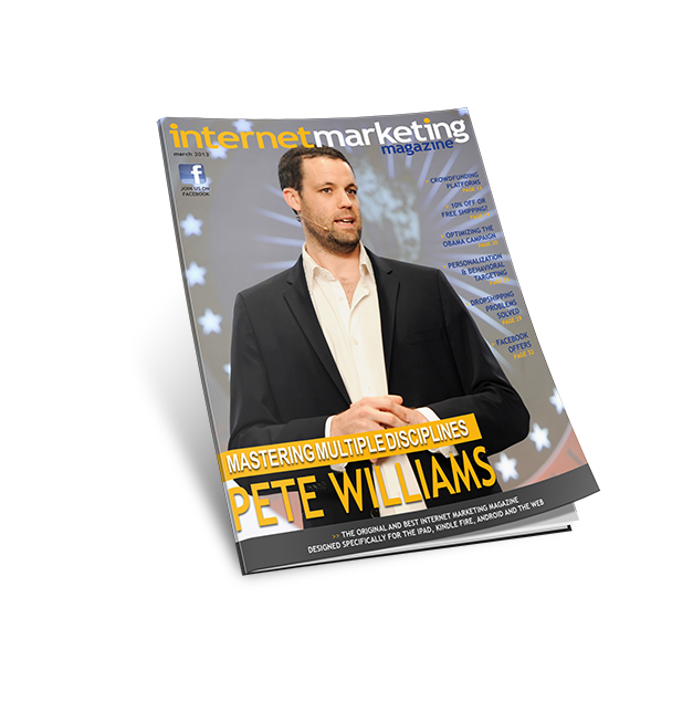 Pete on the Cover of Internet Marketing Magazine