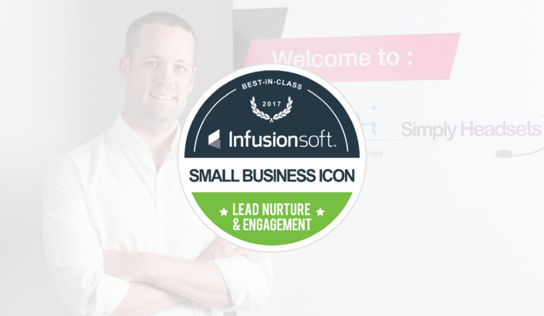 Pete Wins Infusionsoft's 2017 Small Business ICON Best in Class Award for Lead Nurture